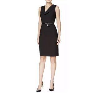 Sleeveless Cowl Neck Wear To Work Dress
